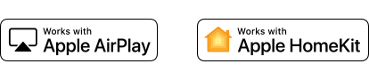 Logotipi Apple AirPlay i Apple HomeKit