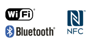 Logotip za Wi-Fi, NFC i Bluetooth